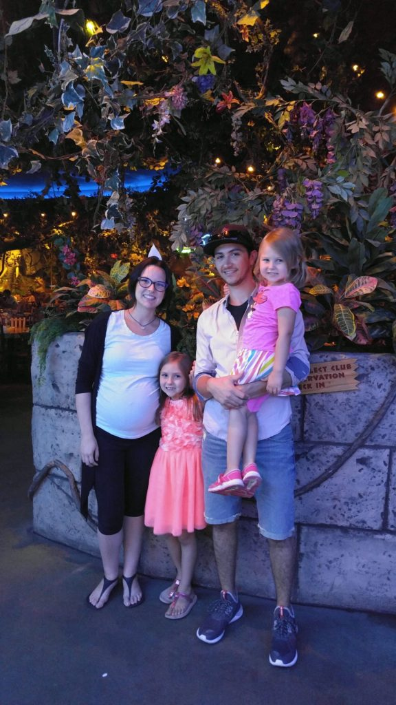 Circle surrogate, Heather, with her family during one of her journeys.