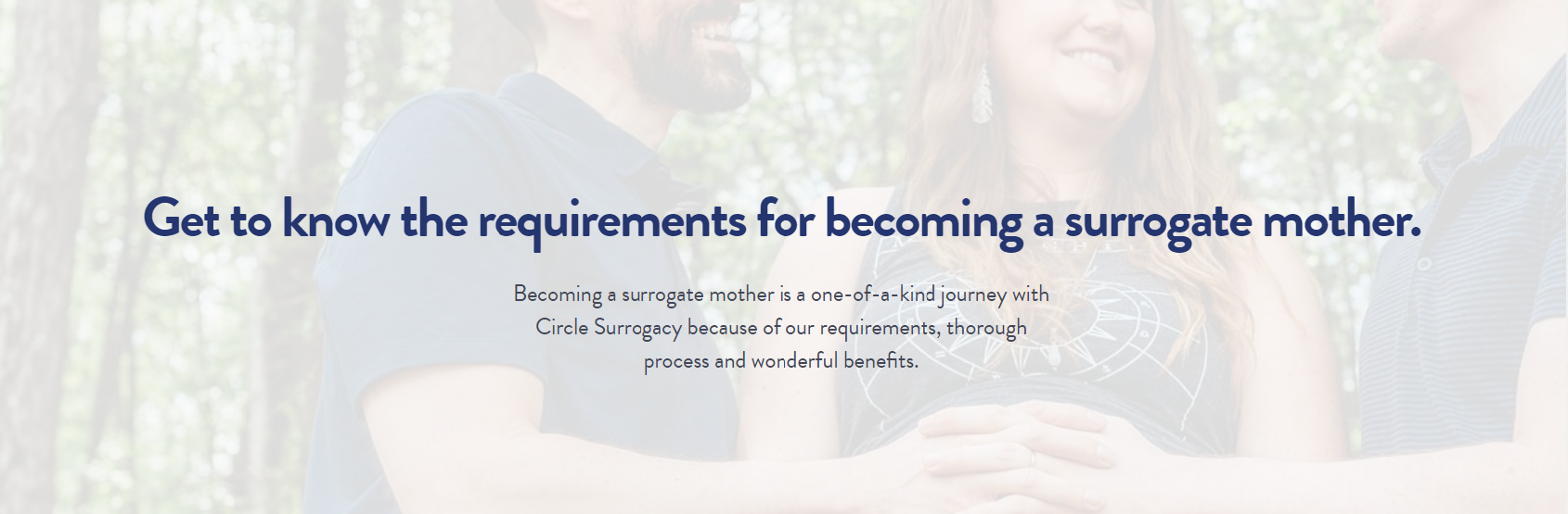 Requirements for becoming a surrogate mother