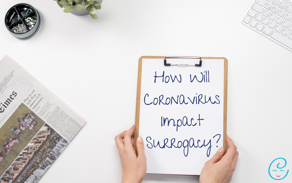 How will Corona virus impact surrogacy written on med chart