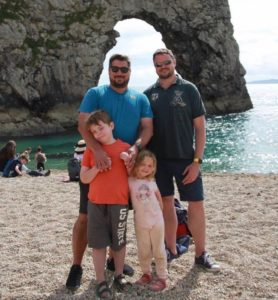 A Circle Surrogacy family enjoys a day at the beach.